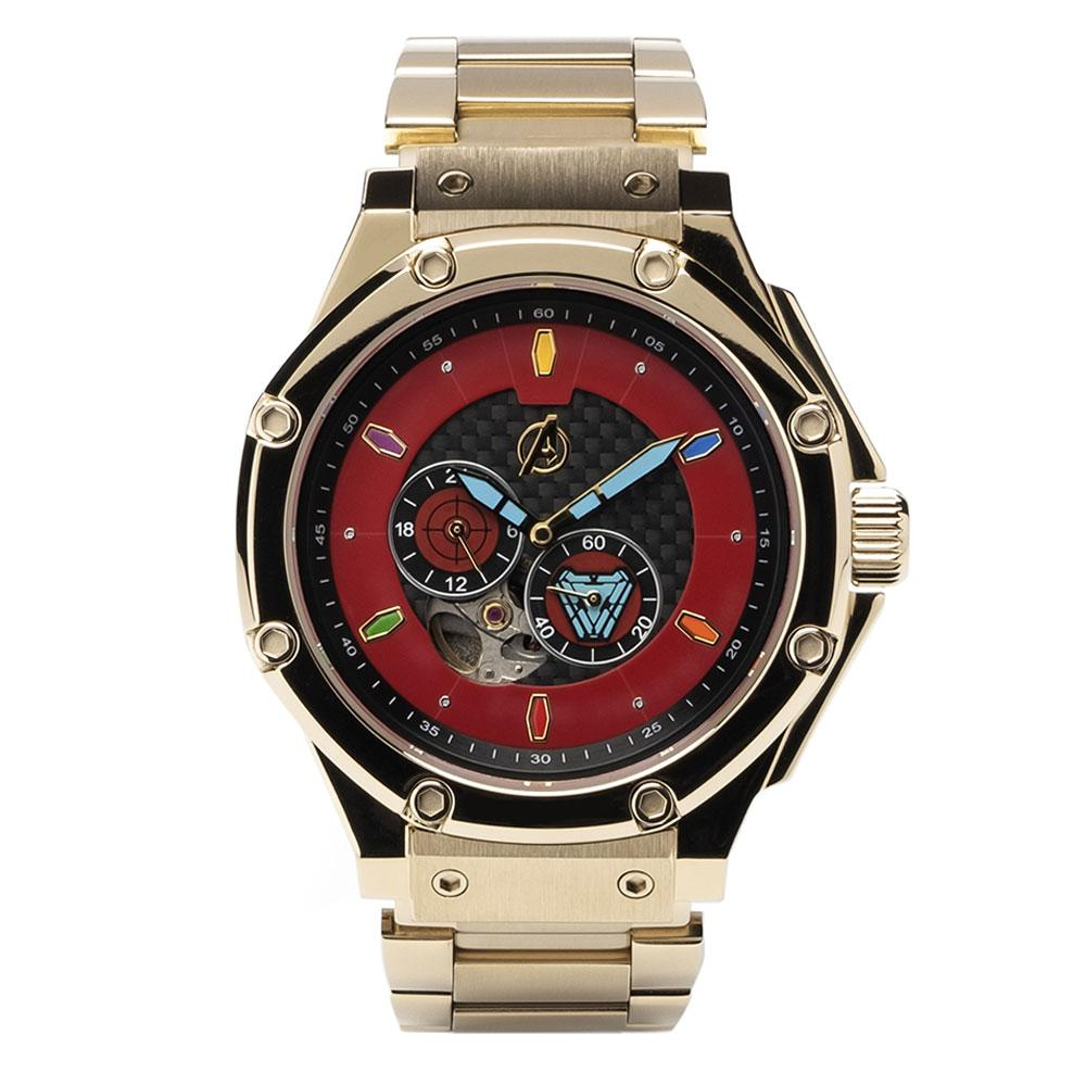 MSTR AM309MV - AUTOMATIC SEMI CHAMPAGNE GOLD / RED / SS BAND