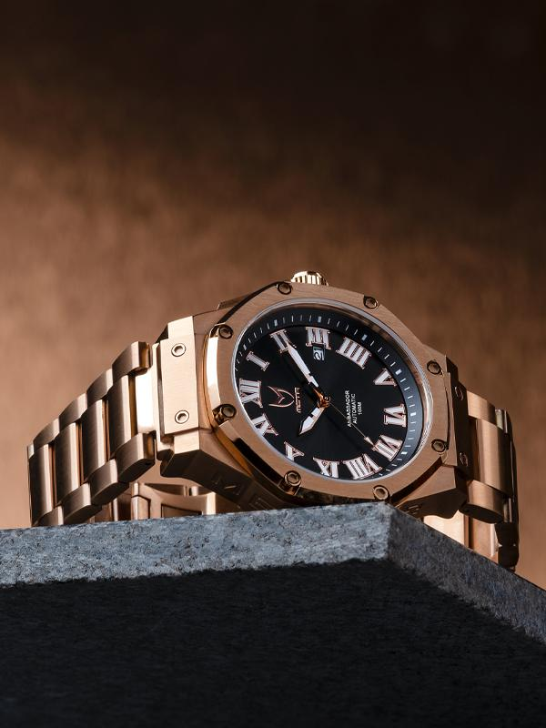 MSTR AM314SS - AUTOMATIC ROSE GOLD / STEEL BAND