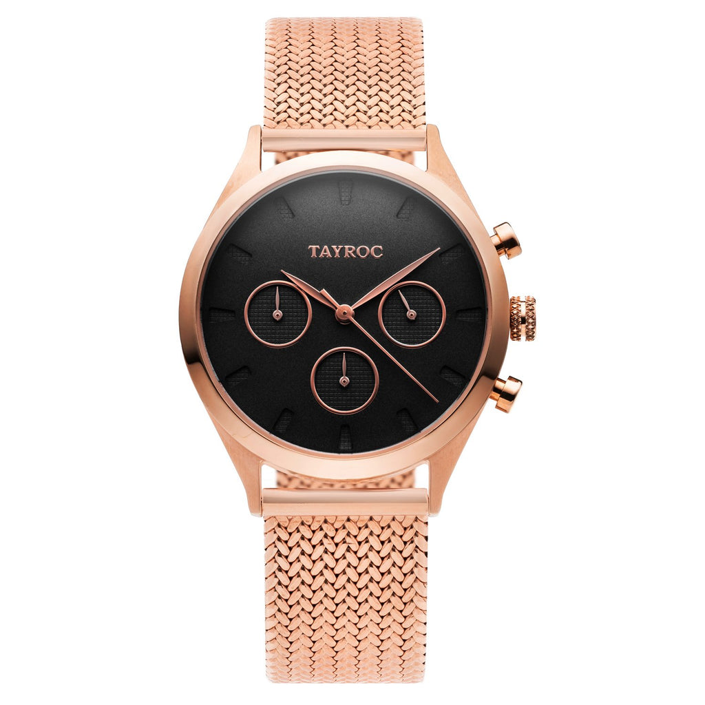 TAYROC ANNES ROSE GOLD BLACK 36mm