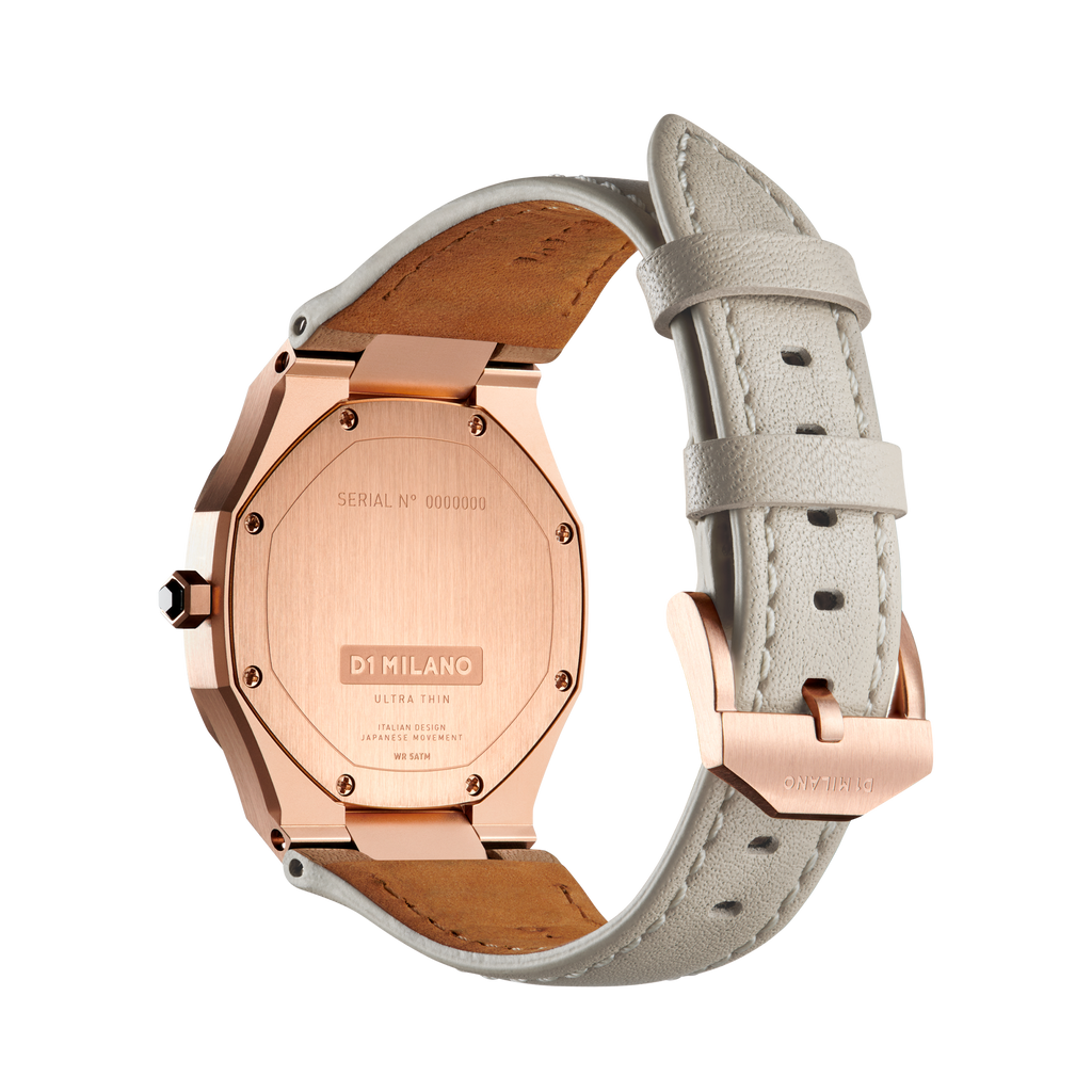 D1 MILANO UTLL14 ONIX ULTRA THIN LEATHER 34MM NEW