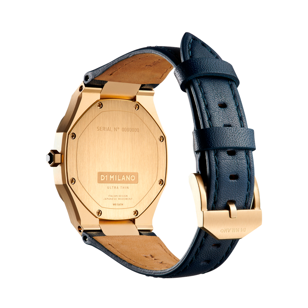 D1 MILANO UTLL15 LAPIS ULTRA THIN LEATHER 34MM NEW