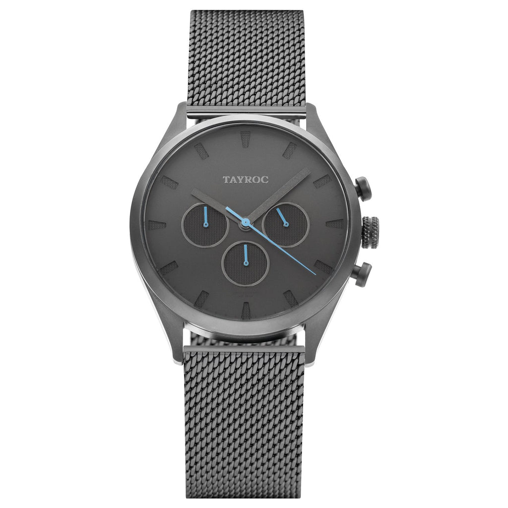 TAYROC EVEREST Gunmetal Blue 42mm