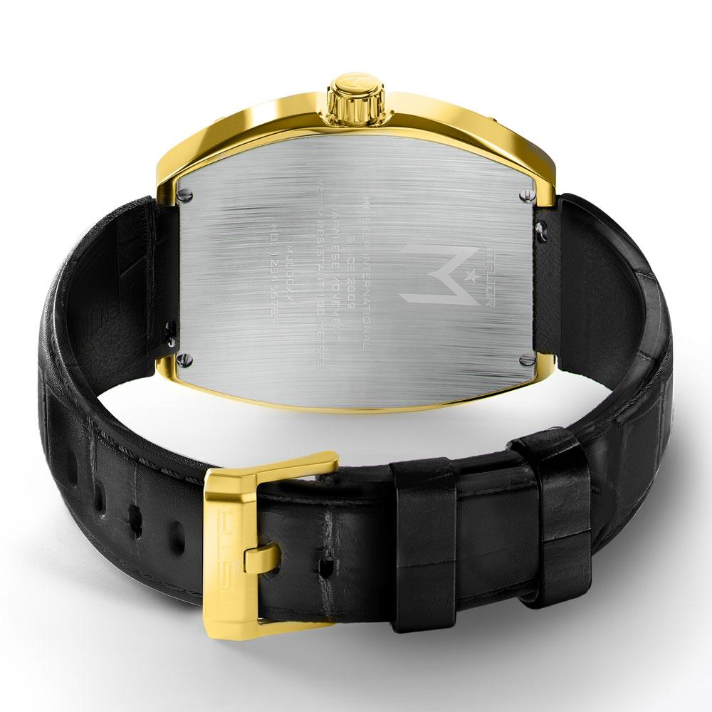 MSTR MJ116CB - MAJOR 18K GOLD / BLACK / CROC STYLE BAND NEW