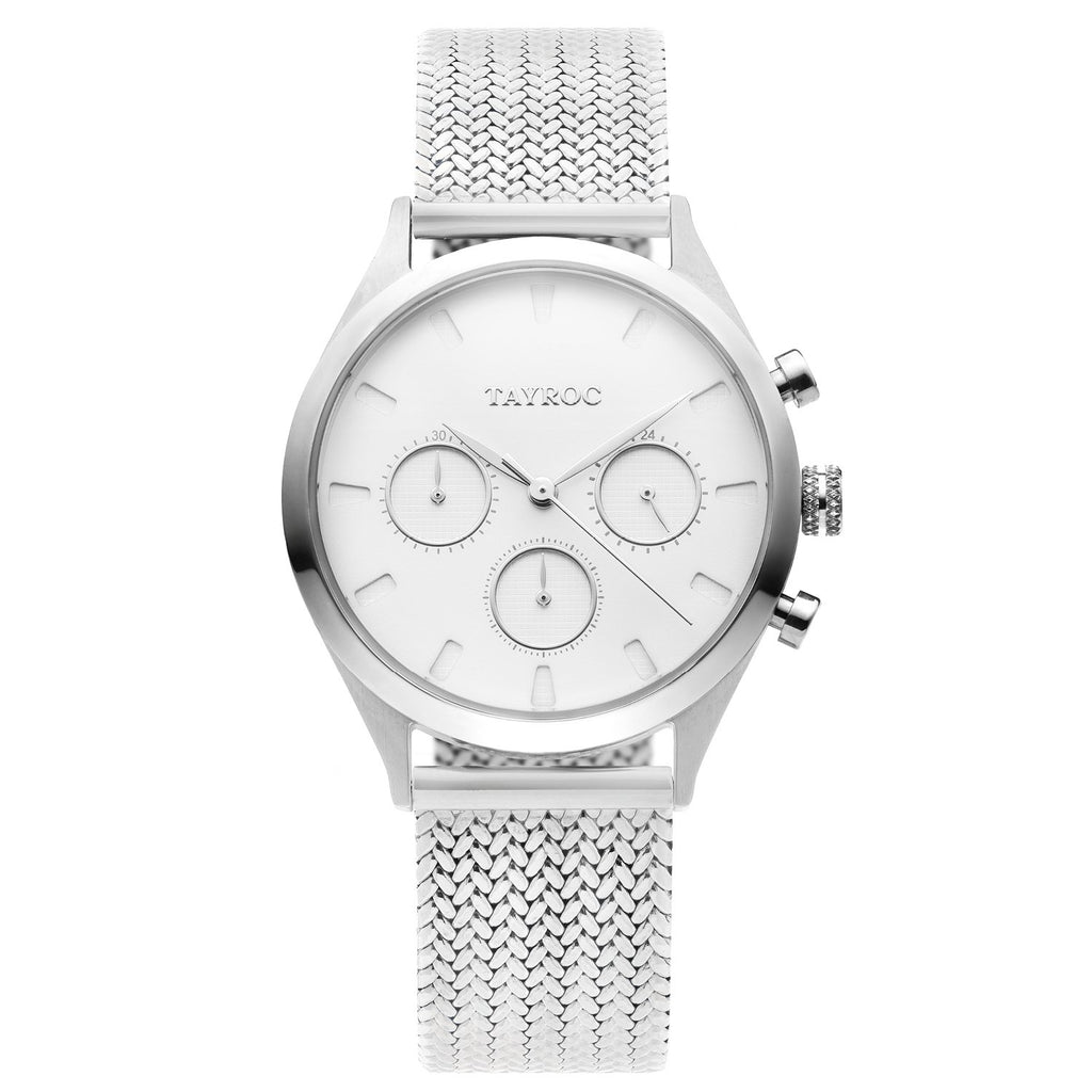 TAYROC MOSCOW SILVER / SILVER Mesh Strap 36mm
