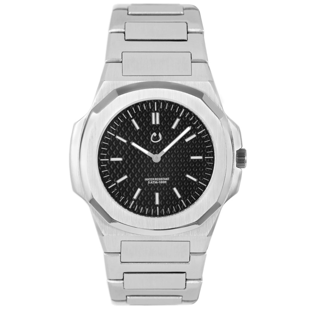 NUUN Montre Silver Stainless Steel NEW