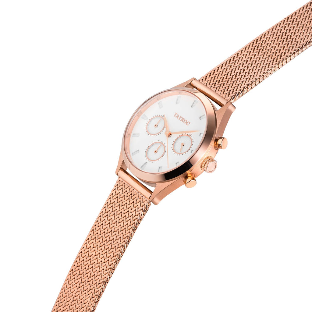 TAYROC ROME ROSE GOLD WHITE 36mm