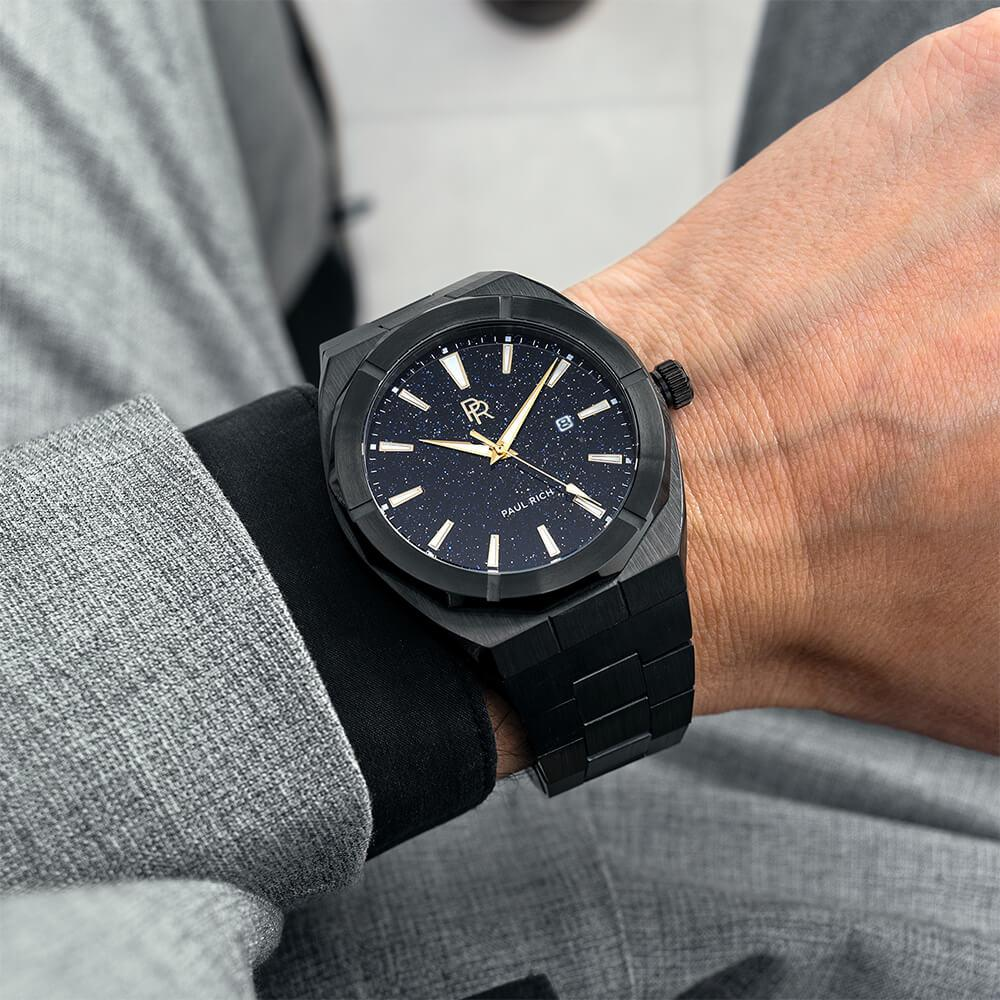 PAUL RICH STAR DUST - BLACK AUTOMATIC