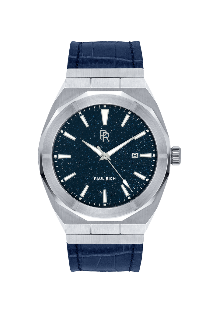 PAUL RICH STAR DUST - SILVER LEATHER AUTOMATIC
