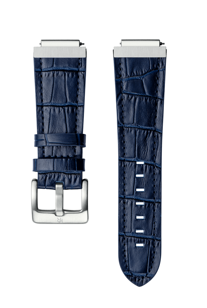 STEEL WATCHBAND - BLUE LEATHER