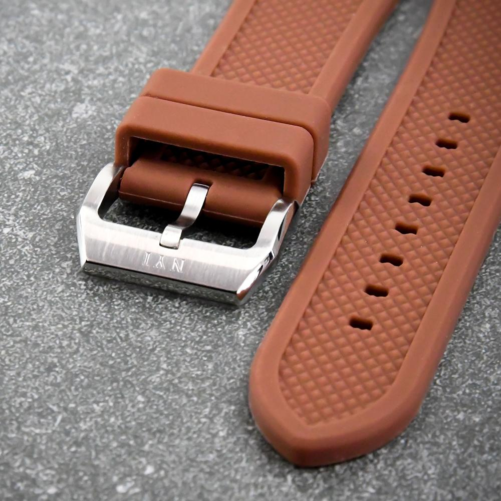 NYI STRAP - BROWN SILICONE