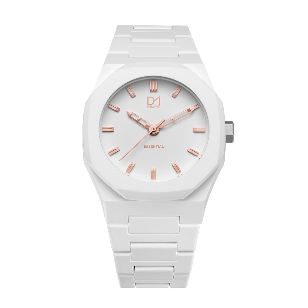 A-ES06 D1 Milano White Rose Gold Essential