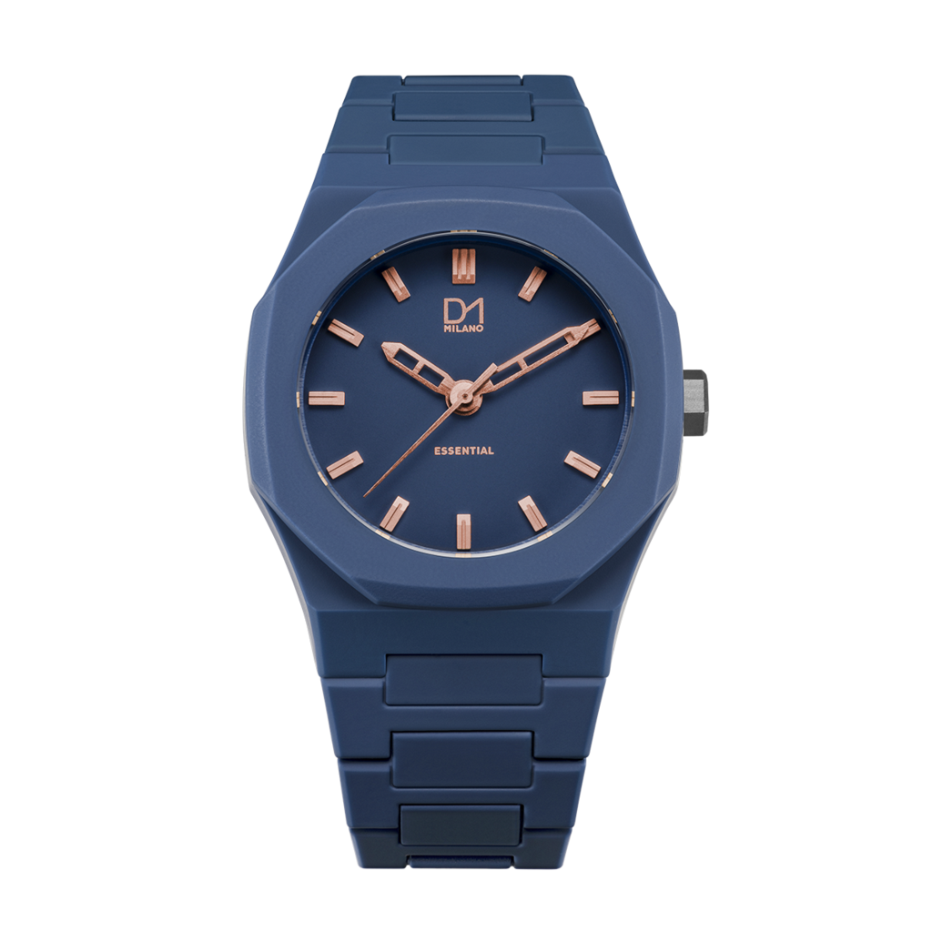 A-ES09 D1 Milano Blue Rose Gold Essential