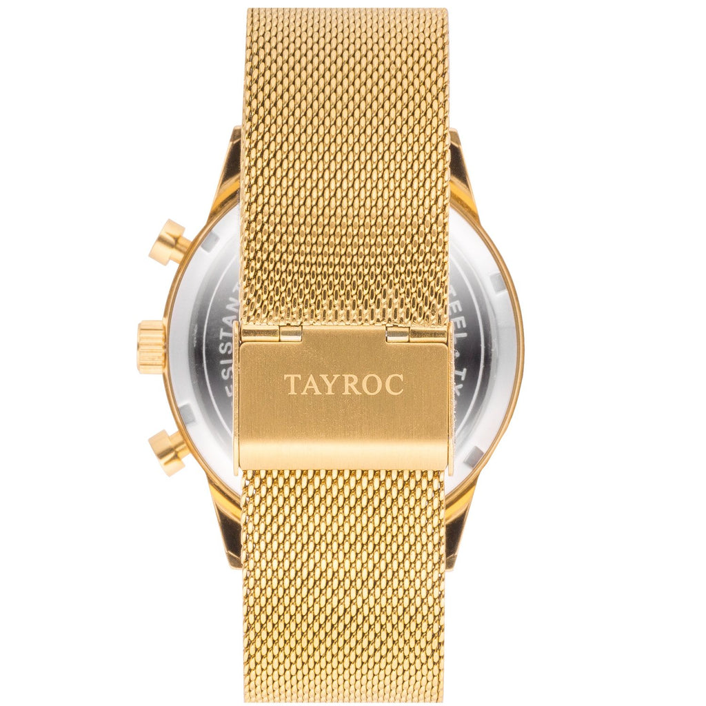 TAYRO TXM090 GOLD BLACK / GOLD MES STRAP 42mm