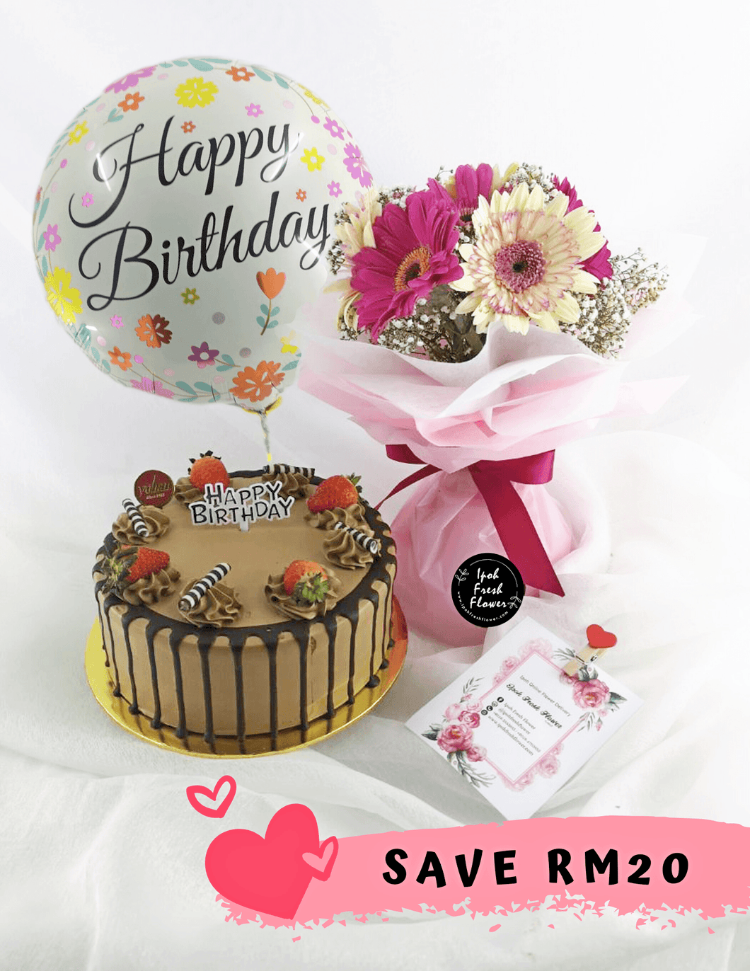 Birthday Bundle| Fresh Flower and Gift Delivery| Ipoh Free Delivery| Ipohfreshflower.com