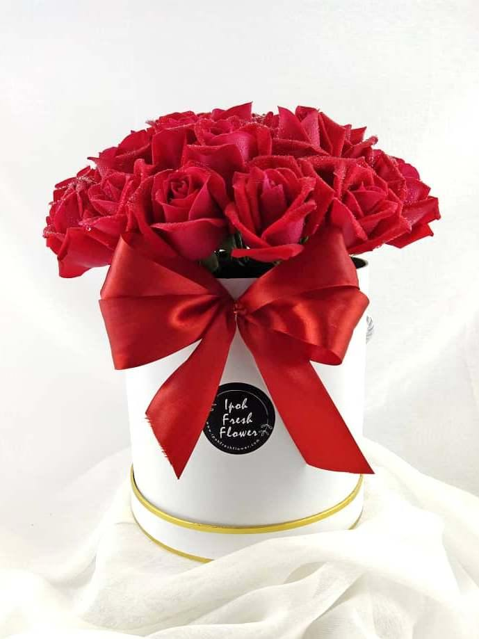Red Roses Bloom Box| Ipoh Free Delivery| Ipohfreshflower.com