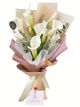 Load image into Gallery viewer, Cala Lilies Bouquet| Ipoh Free Delivery| Ipohfreshflower.com