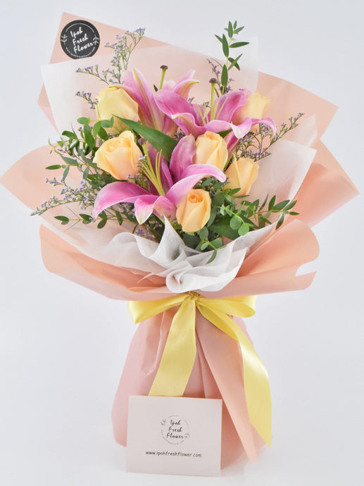 Lilies Bouquet| Ipoh Free Delivery| Ipohfreshflower.com