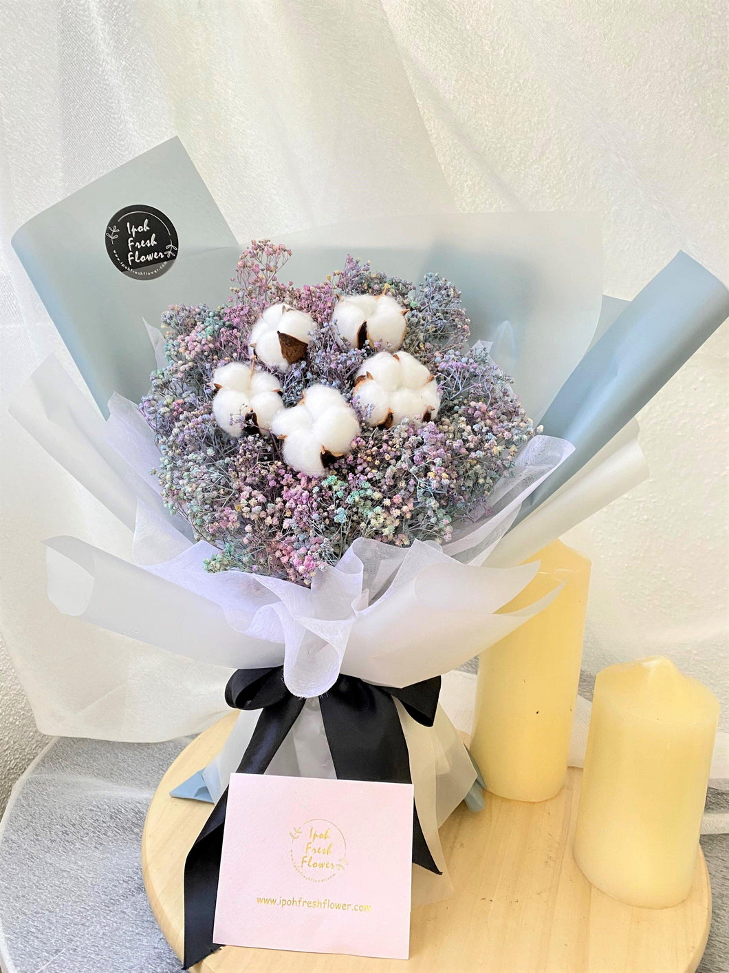 Cotton Flower Bouquet| Ipoh Free Delivery| Ipohfreshflower.com