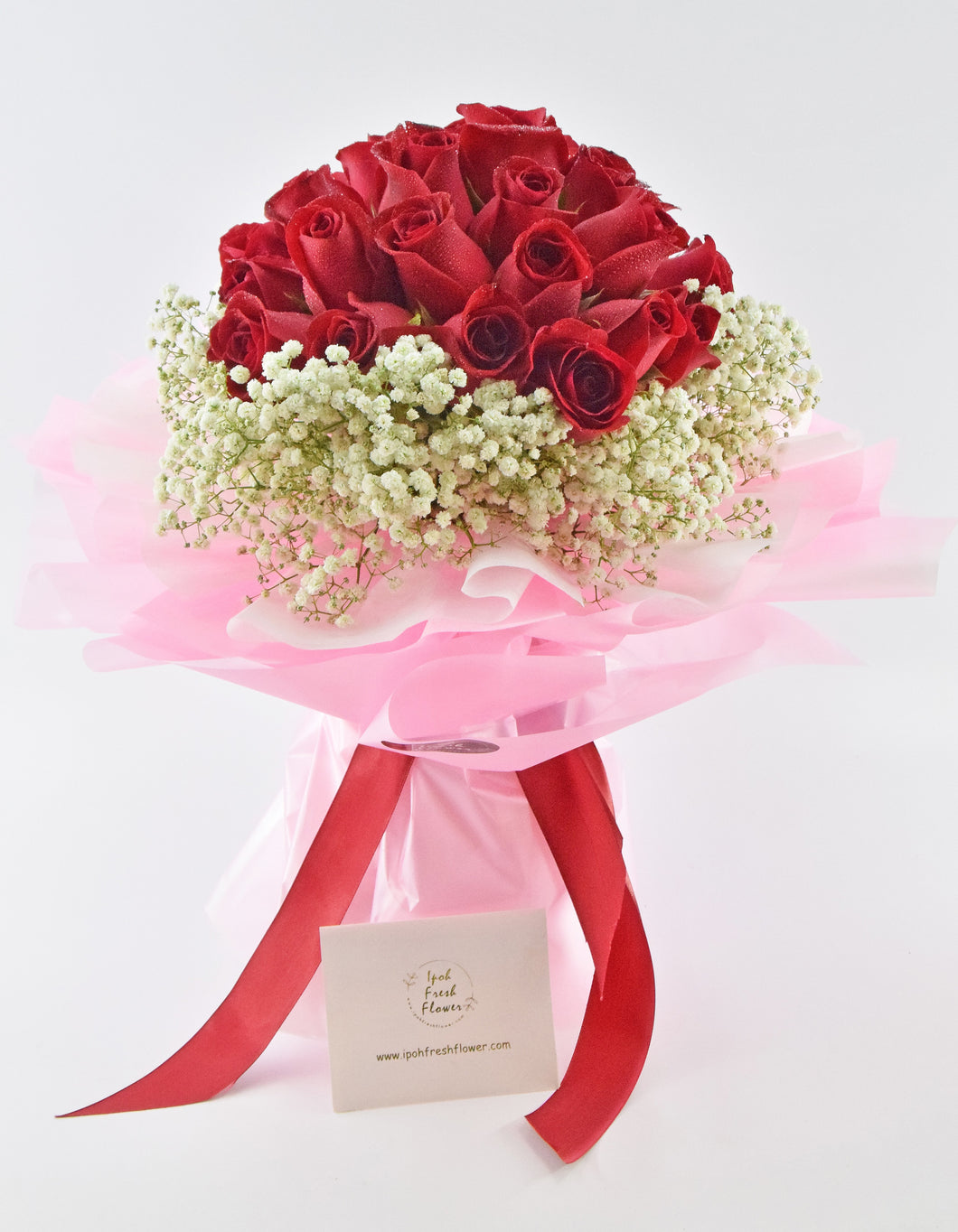 Endless Love- 50 Roses| Fresh Flower Bouquet| Ipoh Free Delivery| Ipohfreshflower.com