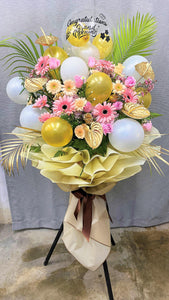 Grand Opening Flower Balloon Stands | Ipoh Free Delivery| Ipohfreshflower.com
