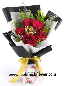 Sparkling Gold |Fresh Flower Bouquet| Ipoh Free Delivery| Ipohfreshflower.com
