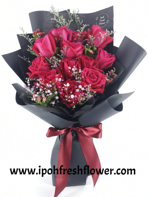 Fresh Flower Bouquet- Elegance| Ipoh Free Delivery| Ipohfreshflower.com