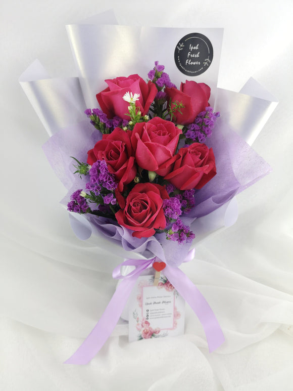 Fresh Flower Bouquet- Red Alpha | Ipoh Free Delivery| Ipohfreshflower.com