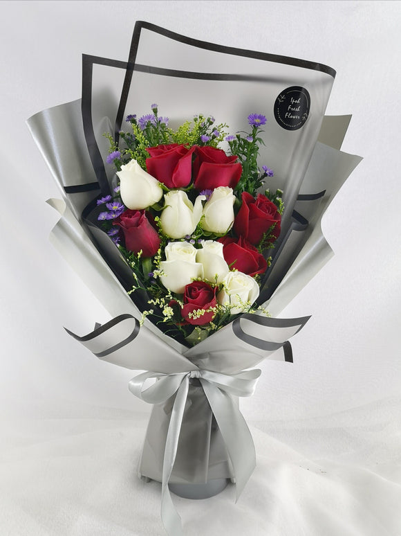 Fresh Flower Bouquet- Elegance Beauty| Ipoh Free Delivery| Ipohfreshflower.com
