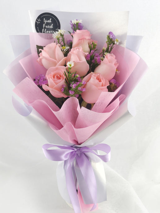EstellaPretty Pink bouquet |Fresh Flower Bouquet| Ipoh Free Delivery| Ipohfreshflower.com