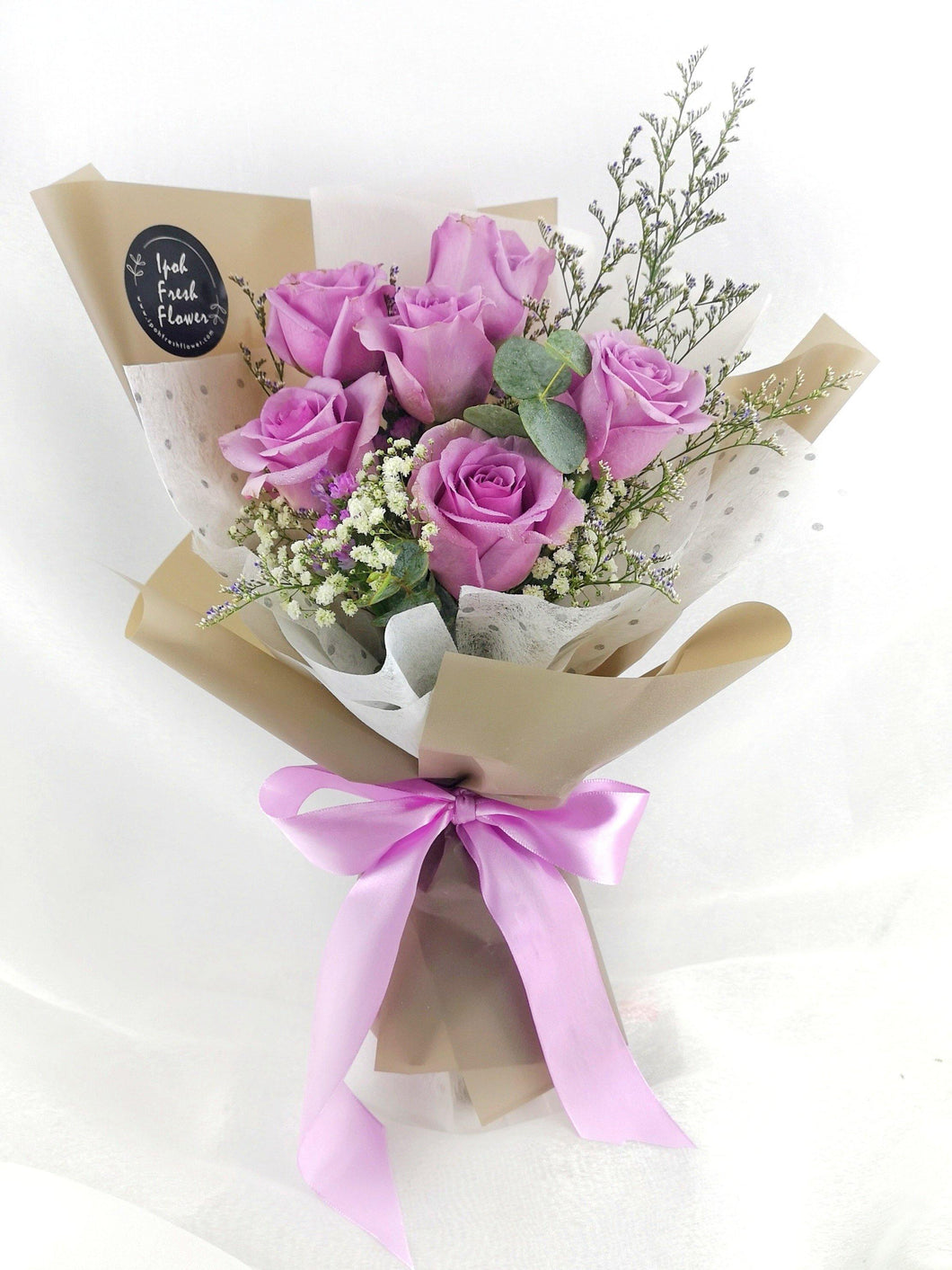 Lavendar Roses| Fresh Flower Bouquet| Ipoh Free Delivery| Ipohfreshflower.com