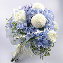 Load image into Gallery viewer, Hydrangea Flower Bouquet| Fresh Flower Bridal Bouquet| Ipoh Free Delivery| Ipohfreshflower.com