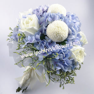 Hydrangea Flower Bouquet| Fresh Flower Bridal Bouquet| Ipoh Free Delivery| Ipohfreshflower.com
