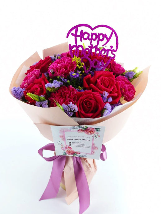 Mother's Day Fresh Flower Bouquet| Ipoh Free Delivery | www.Ipohfreshflower.com