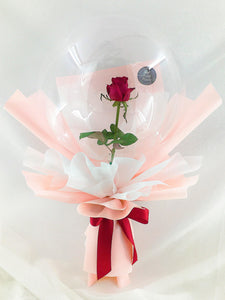Rose in balloon| Balloon bouquet| Ipoh Free Delivery| Ipohfreshflower.com