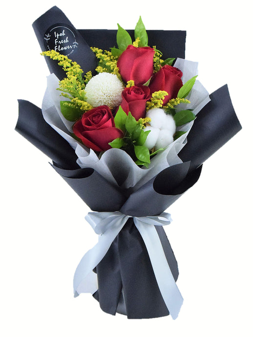 Red Roses Bouquet| Ipoh Free Delivery| Ipohfreshflower.com
