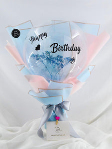 Baby breath & Balloon bouquet| Ipoh Free Delivery| Ipohfreshflower.com