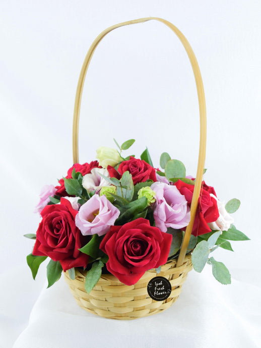 Fresh Flower Basket| Ipoh Free Delivery| Ipohfreshflower.com