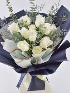 White Roses| Fresh Flower Bouquet| Ipoh Free Delivery| Ipohfreshflower.com