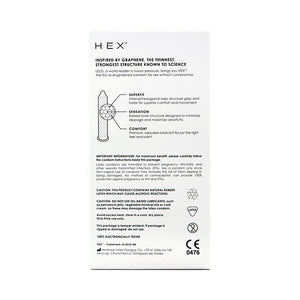 LELO - HEX™ TRACTION 12pcs 無間防滑脫版安全套 12片裝 - Lovenjoy Club