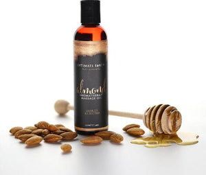 Intimate Earth - Almond Massage Oil - 120ml  蜜糖杏仁按摩油 - Lovenjoy Club