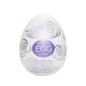 Tenga EGG Hard Gel Cloudy 飛機蛋 - 飛雲吞吐蛋 - Lovenjoy Club