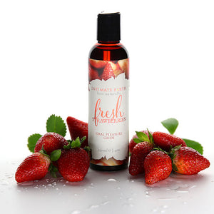 INTIMATE EARTH - FRESH STRAWBERRIES - 120ml 草莓口交潤滑液 - Lovenjoy Club