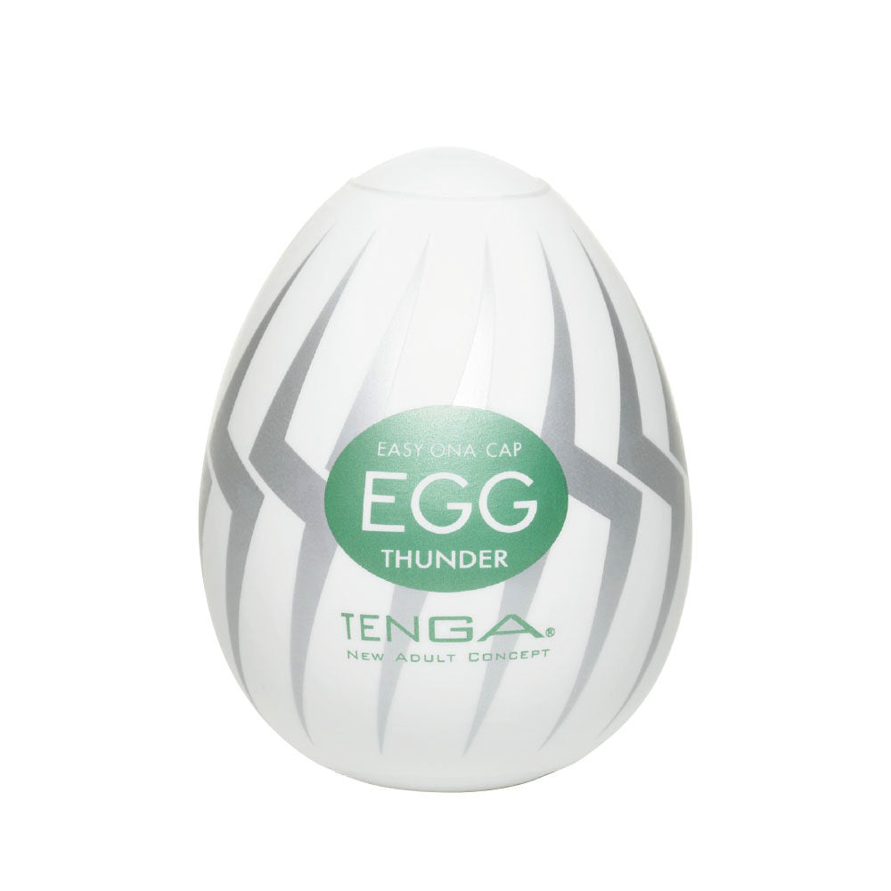 Tenga EGG Hard Gel Thunder 飛機蛋 - 閃電突擊蛋 - Lovenjoy Club