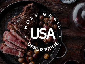 Upper Prime Black Angus Bone-In Strip Steak ~16 oz