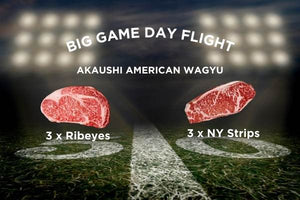 Big Game Day Akaushi American Wagyu Ribeye & Strip Steak 6 Pack