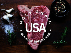 Upper Prime Black Angus Dry-Aged T-Bone ~ 24 oz - Holy Grail Steak Co.