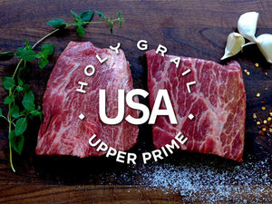 Upper Prime Black Angus Flat Iron Steak ~8oz - Holy Grail Steak Co.