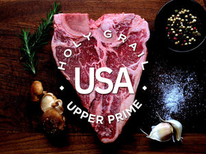 Upper Prime Black Angus Porterhouse ~24oz. - Holy Grail Steak Co.