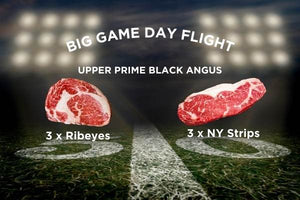 Big Game Day Upper Prime Black Angus Ribeyes & Strip Steak 6-Pack
