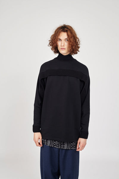 Sweater with rib detail